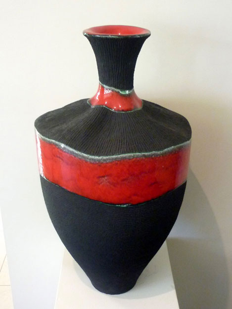 Vessel: Luscious Red & Textured Black